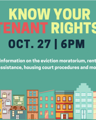 10/27, 6pm - Join us For Know Your Tenant Rights!